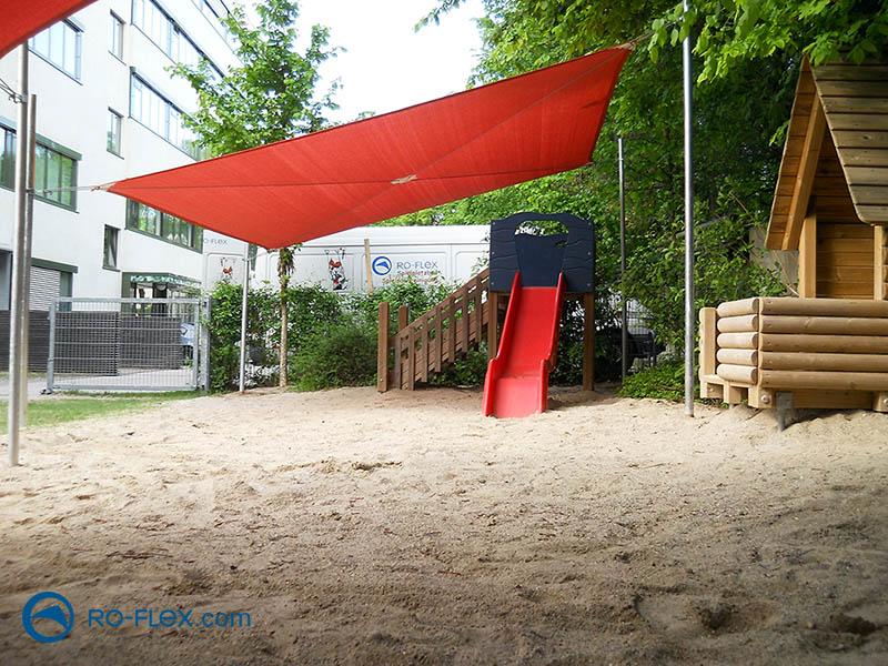 Sonnensegel Kinderspielplatz