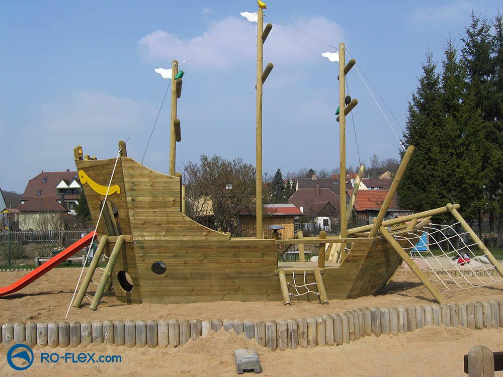 RO-FLEX Spielplatzbau Piratenschiff, Rippach 3