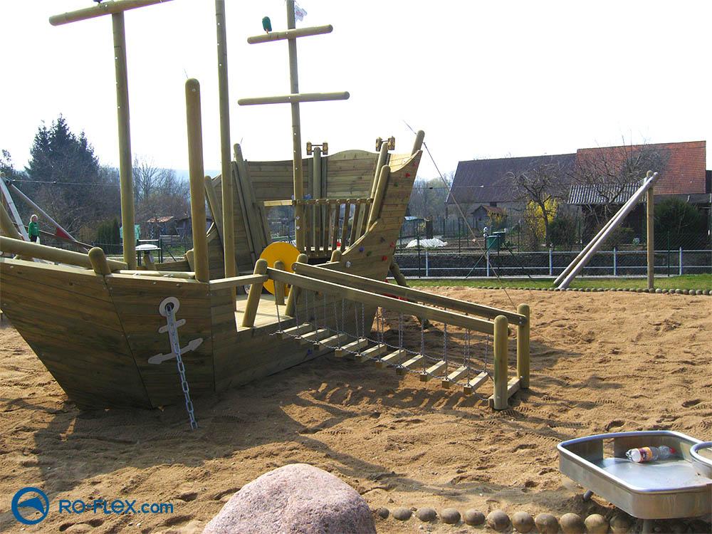 RO-FLEX Spielplatzbau Piratenschiff, Rippach