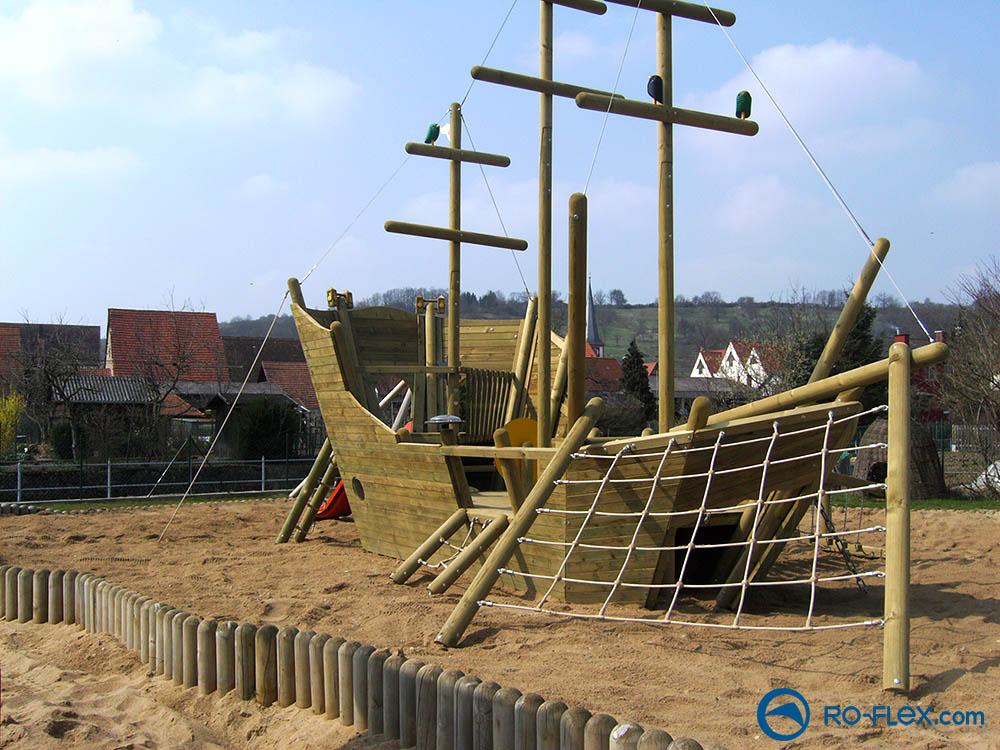 RO-FLEX Spielplatzbau Piratenschiff, Rippach 2