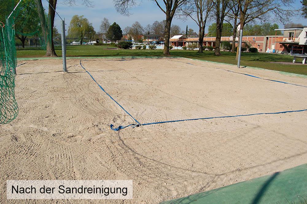 Nach der Sandreinigung