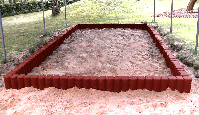 Sandkasteneinfassung