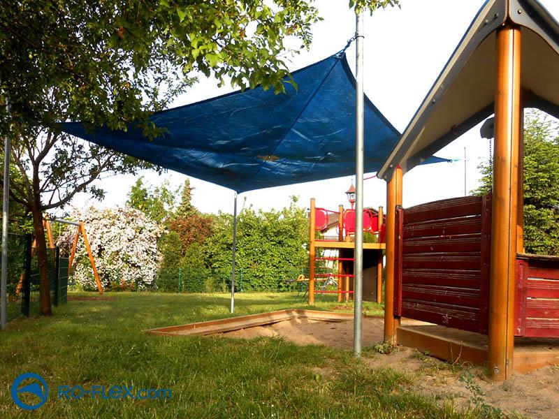 Sonnensegel blau für Kindertagesstätte