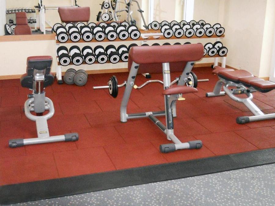 Fallschutplatten für Fitnessstudio