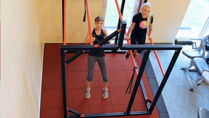Fallschutz Fitnessstudio