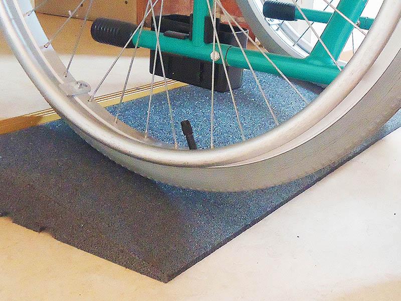 Rollstuhlrampe aus Gummi, 50cm breit
