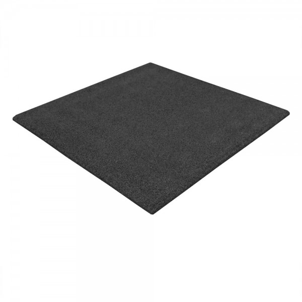 Elastic tiles rubber granulate 25 black - Flooring for cellar floors in the sports and fitness area