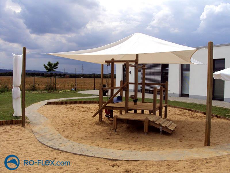 Sonnensegel für Spielplatz