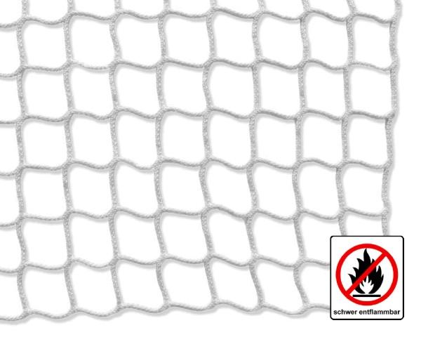 Schutznetz weiß, schwer entflammbar - Maschenweite 45mm