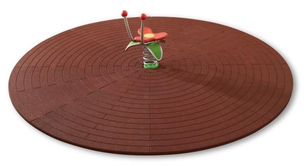Spielpunktunterlage Erweiterung auf Ø 3800 mm Rotbraun
