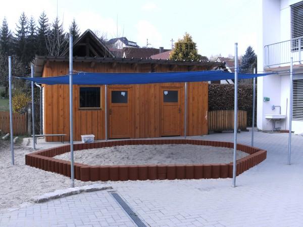 Sonnensegel Sandkasten Kombination 3 in 1 8eck blau