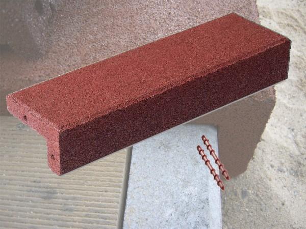 Winkelabdeckung aus Gummigranulat Rotbraun