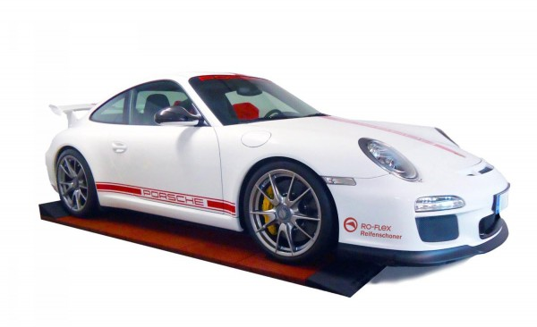 Reifenschonerspur Porsche Schwarz Rotbraun