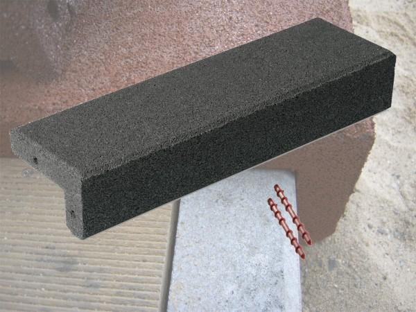 Winkelabdeckung aus Gummigranulat Schwarz