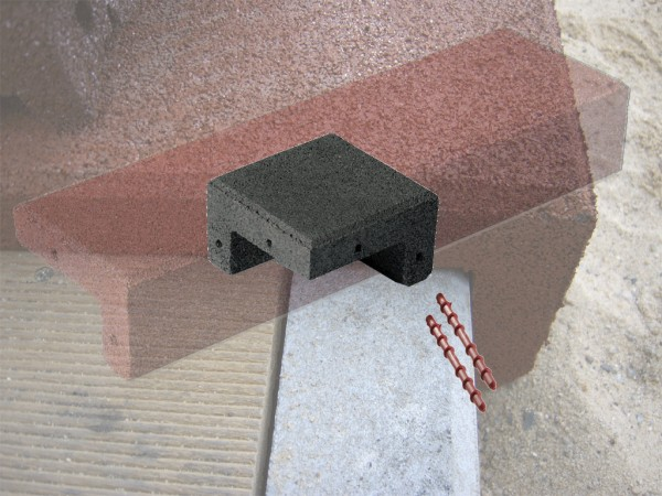 Winkelabdeckung Ecken aus Gummigranulat Schwarz
