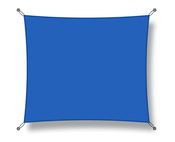 Shade sail 5 x 5 m blue