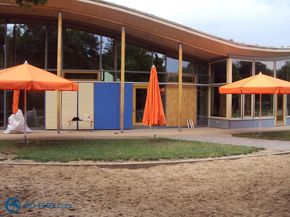RO-FLEX Sonnenschirm rund, orange