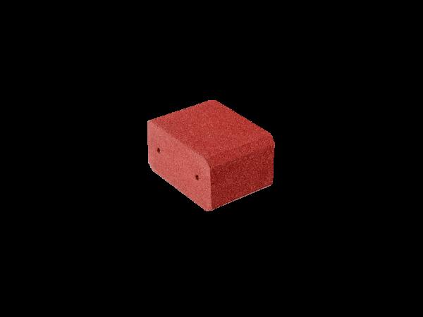 Blockstufen 250 Gummigranulat Rotbraun