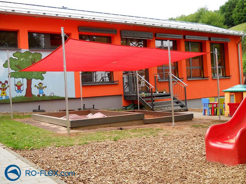 Sonnensegel rechteckig für Kindergarten
