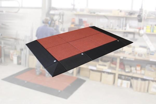 Anti-Ermüdungs-Arbeitsplatzmatten Set 65-3 13 teilig inkl. Systemstecker Rotbraun Schwarz