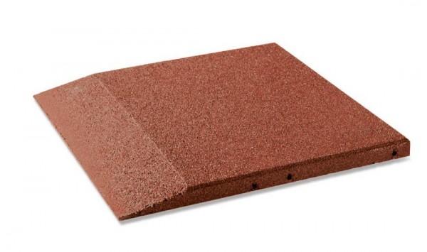 Fallschutzplatten Randplatten 30 - 80 mm Rotbraun