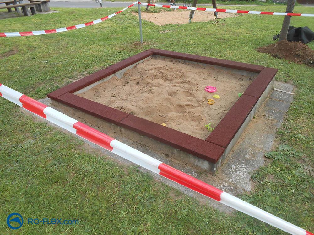 Sandkasten Randabdeckung Spielplatz Hasloch
