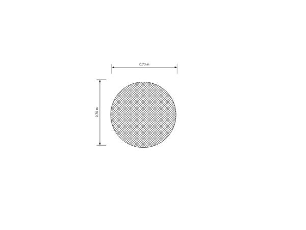 Skizze Sonderposten Schutznetz Weiß 0,40 x 1,07 m 20/2,3 mm