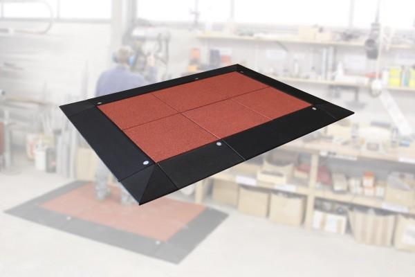 Anti-Ermüdungs-Arbeitsplatzmatten Set 45-4 17 teilig inkl. Systemstecker Rotbraun Schwarz