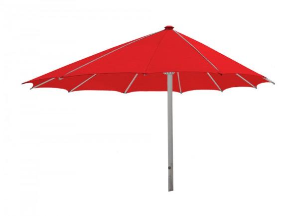 Komfort Sonnenschirm ROFI Klima Pro, rund exzentrisch Ø430cm, Standrohr Ø 60mm, rot