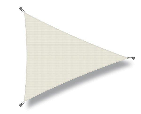 Triangular shade sail 3 x 5 x 5 m cream