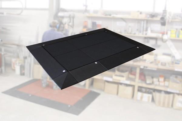 Anti-Ermüdungs-Arbeitsplatzmatten Set 65-4 17 teilig inkl. Systemstecker Schwarz