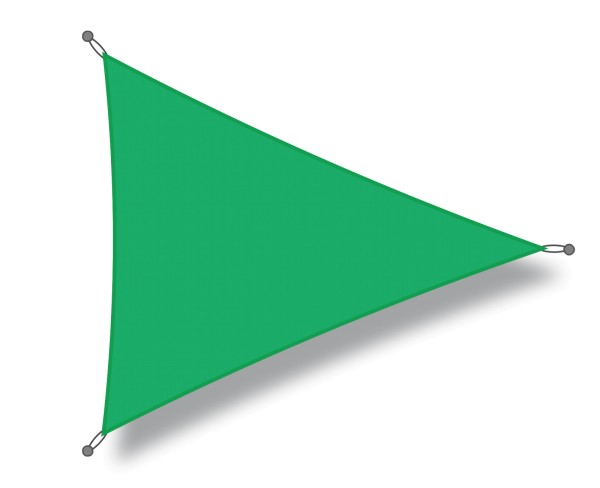 Triangular shade sail 4 x 4 x 4 m light green