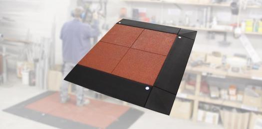 Anti-fatigue workplace mat set 65-1