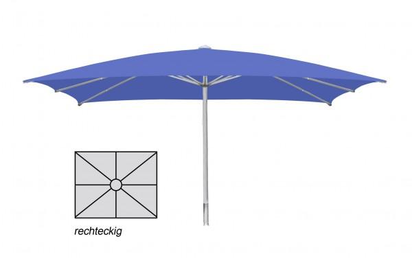 Komfort Sonnenschirm ROFI Klima Pro, rechteckig 300x640cm, Standrohr Ø 60mm, Blau