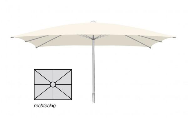 Komfort Sonnenschirm ROFI Klima Pro, rechteckig 350x450cm, Standrohr Ø 60mm, Creme