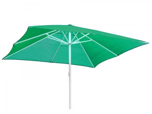 Komfort Sonnenschirm ROFI Klima Pro, quadratisch 350x350cm, Standrohr Ø 76mm, grün