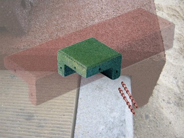 Winkelabdeckung Ecken aus Gummigranulat Grün