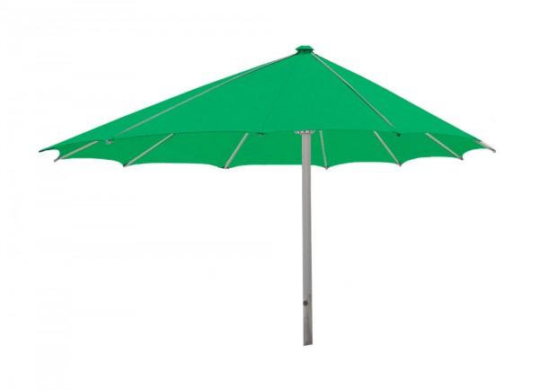 Komfort Sonnenschirm ROFI Klima Pro, rund exzentrisch Ø600cm, Standrohr Ø 110mm, hellgrün