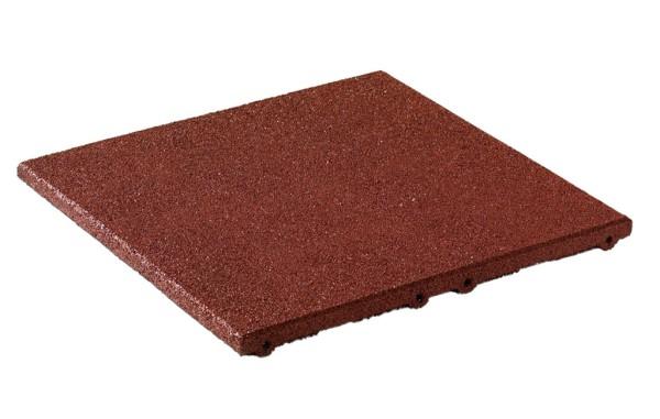 Fallschutzplatten aus Gummigranulat für die Fallhöhe von 1,00 - 2,40 m Rotbraun