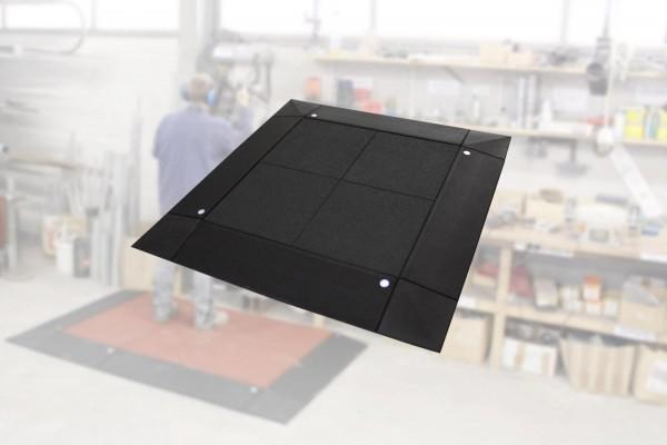 Anti-Ermüdungs-Arbeitsplatzmatten Set 65-2 13 teilig inkl. Systemstecker. Schwarz
