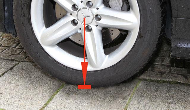 Ohne Reifenwiege
