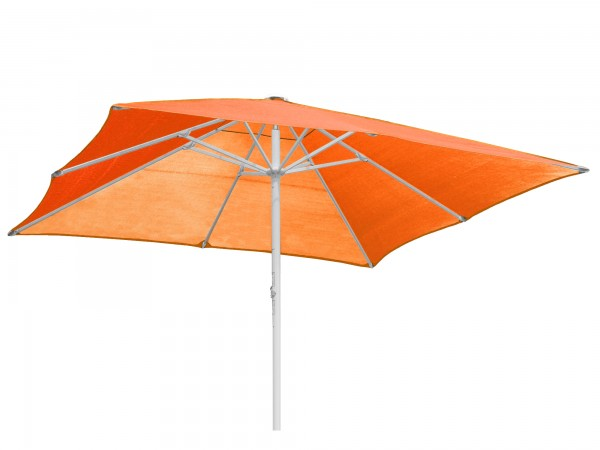 Komfort Sonnenschirm ROFI Klima Pro, quadratisch 500x500cm, Standrohr Ø 76mm, terrakotta