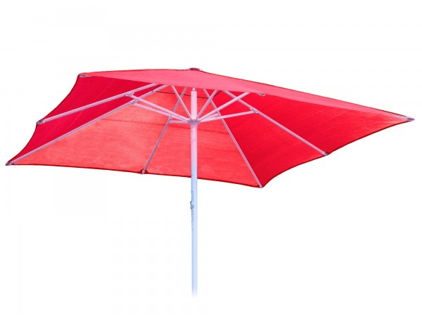 Komfort Sonnenschirm ROFI Klima Pro, quadratisch 400x400cm, Standrohr Ø 76mm, rot