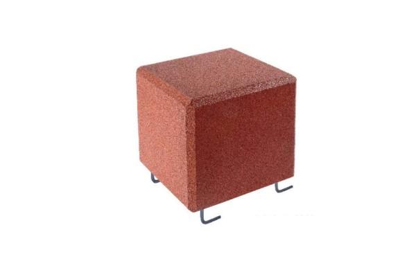 Sitzwürfel mit Bodenanker, rotbraun