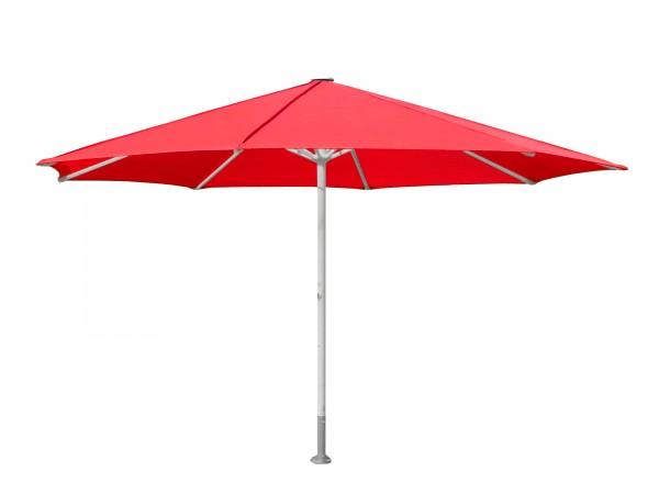 Komfort Sonnenschirm ROFI Klima Pro, rund Ø500cm, Standrohr Ø 76mm, rot
