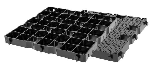 Paddockplatte SG 40 ohne Unterbau verlegbar- Direkt in die Fläche eingerüttelt, wird kein Unterbau benötigt.Unterbau.