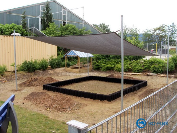 Shade sail - sandbox combination 3 in 1 5.15 x 5.15 m