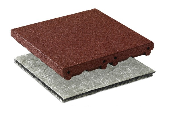 Safe System HIC fall protection tiles 3 m auburn