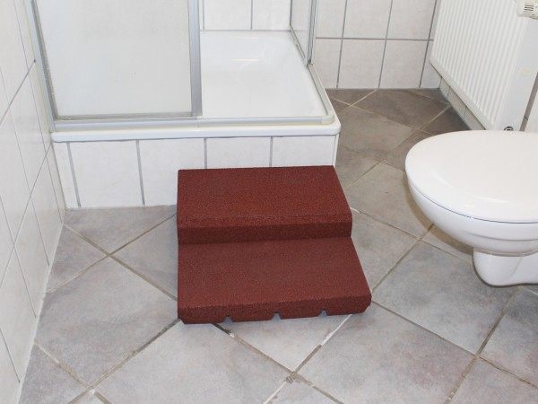 Shower tray entry aid Type II 2 pieces + rubber granulate adhesive.