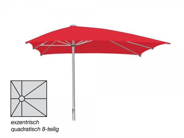 ROFI Klima Pro Comfort parasol, square off-centre 300 x 300 cm, standpipe Ø 60mm, red